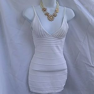 Wow couture All white mini dress